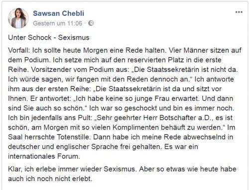 Sawsan Chebli, ich verstehe Sie! Eine Postille